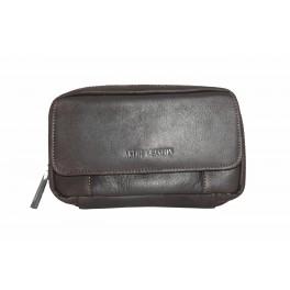 Pochette ceinture en cuir de vachette gras ARTHUR&ASTON