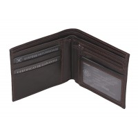 Portefeuille format italien en cuir de vachette plongé ARTHUR & ASTON