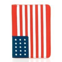 Etui à passeport + cartes de crédit motif drapeaux en cuir MYWALIT *