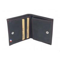Porte-monnaie boîte homme RFID en cuir de vachette MP Nîmes