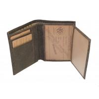Portefeuille junior en cuir de vachette vieilli ARTHUR & ASTON