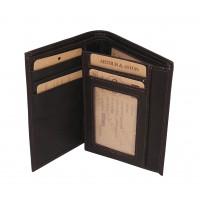 Porte-papiers/porte-cartes en cuir gras ARTHUR & ASTON