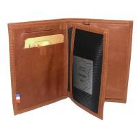 Petit portefeuille en cuir de vachette MP Nîmes