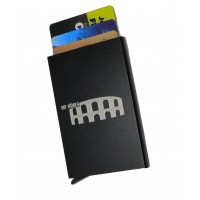Etui porte-carte Alu automatique protection RFID