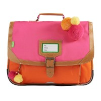 Cartable fille Tann's Les Fantaisies Frida rose/orange