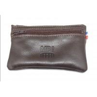 Porte-monnaie homme 3 zips en cuir de vachette MP NIMES