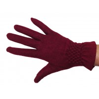 Gants dame laine smoké touch point taille unique GLOVE STORY