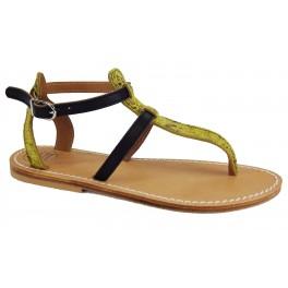 Sandales dame en cuir type tropézienne modèle Atlante 00 Atelier BOWER