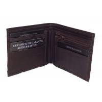 Portefeuille format italien en cuir de vachette ARTHUR & ASTON