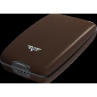 Etui porte-cartes/porte-monnaie en aluminium gainé de cuir TRU VIRTU