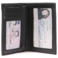 Portefeuille en cuir de vachette imprimé ARTHUR & ASTON