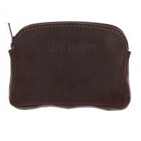 Porte-monnaie cuir gras ARTHUR & ASTON