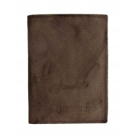 Portefeuille petit format en cuir de vachette ciré vintage ARTHUR & ASTON